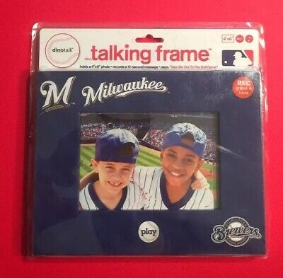 MILWAUKEE BREWERS Picture Talking Frame 4X6 Photo MLB Baseball Vtg NEW Dinotalk