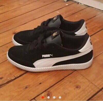 Puma Classic Black And White Suede Trainers Uk 4