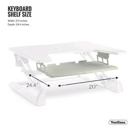 VonHaus ergonomic standing desk riser