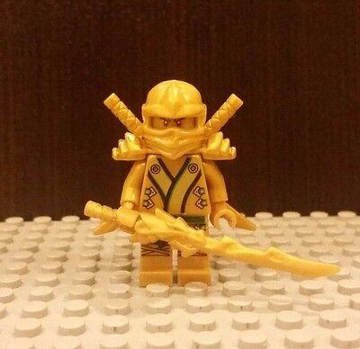 Lego NEW Ninjago Golden Ninja Lloyd With Gold Dragon Sword