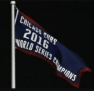 Chicago Cubs 2016 World Series Champions Limited Edition Flag Banner Sga 4 12 17