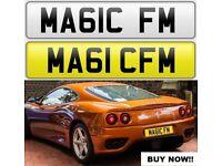 MAGIC FM cherished private personalised number plate car reg. MA61C FM