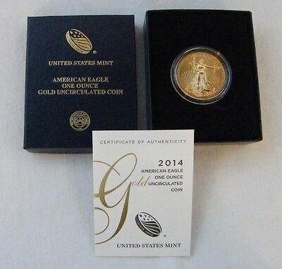 2014-W 1 oz Burnished $50 Gold Eagle