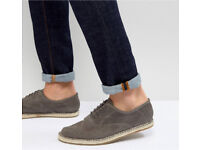 Frank Knight espadrilles size 8 lace up grey