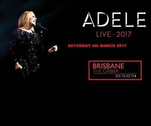2x Adele - Brisbane 4 March 2017 'A Reserve' Deakin South Canberra Preview