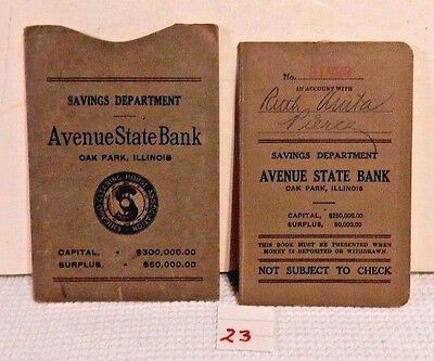 1927 Savings Account Book Avenue State Bank Oak Park Illinois in sleeve NICE