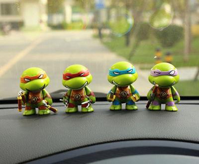 Q Tmnt Teenage Mutant Ninja Turtle Set Of 4 Action Figure Car Decoration](Ninja Turtle Decoration)