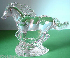 Waterford Crystal Running Horse Figurine Sculpture Slovenia NEW In Box