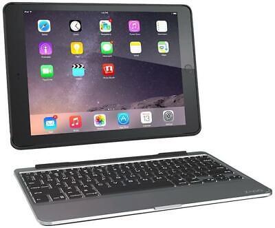 ZAGG Slim Book Ultrathin Case Detachable Bluetooth Keyboard for iPad Air 2 Black