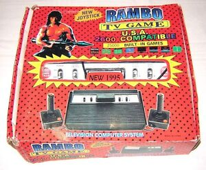 NEW! - Rambo TV Games - Atari 2600 Clone - legendary TV console - 25000 Games