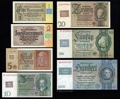 Kuponausgaben-Satz 1948 DDR/SBZ__1-100 Mark *** fast KASSENFRISCH !
