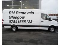 £15+R.M MAN AND VAN GLASGOW+UK FULL REMOVALS,STUDENT MOVES,SOFAS,BEDS,WARDROBES,DINNING TABLES