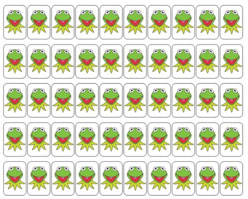 "50 Kermit the Frog Envelope Seals / Labels / Stickers, 1"" by 1.5"""