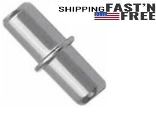 Divided Shelf Pins with Stop, Cabinet &Book Shelf Pegs, Metal Dowels for Shelves