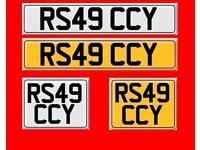 RS4 R54 Cherished private number plate R549 CCY AUDI fees included