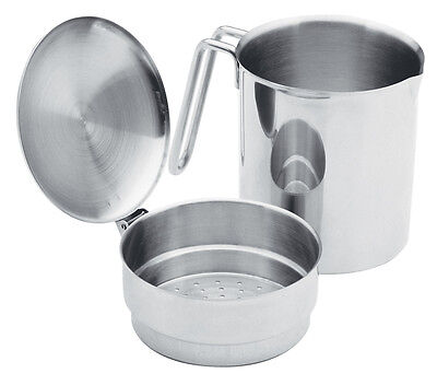 Norpro 73 Stainless Steel Cooking Oil Grease Strainer Saver Keeper Catcher 2pc