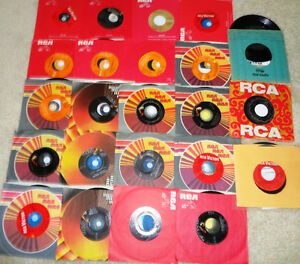 Vintage Elvis Presley 45 Rpm Jukebox Vinyl Promo's RCA Records