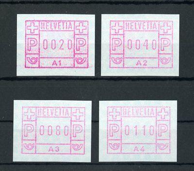 SCHWEIZ ATM Nr.1A1-A4 ** AUTOMATENMARKEN ME 92,-++ !!! (133463)