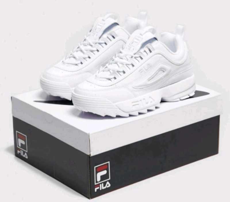 Top Five Fila Trainers Womens Black And White