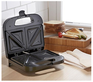 Sandwich Grill Dual Non-Stick Cooking Plates Extra Deep Pockets