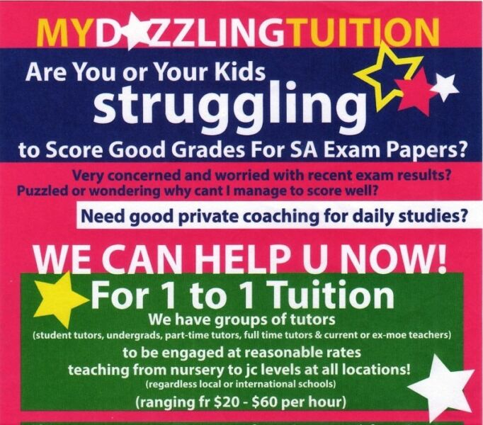 need a Tutor to improve your children academic grade?