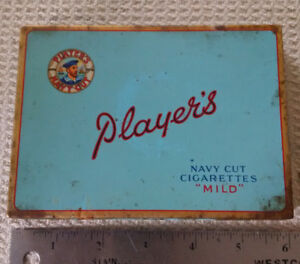Vintage Blue Players Navy Cut Mild Cigarettes Flat Tobacco Tin