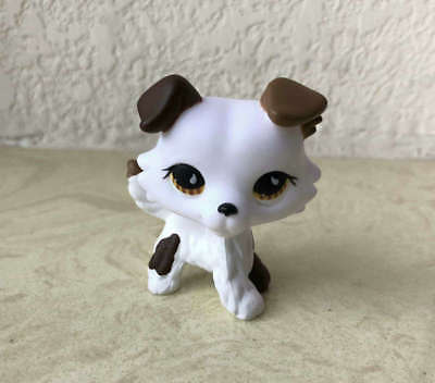 Littlest Pet Shop Custom OOAK LPS Collie Dog White Hand Painted Figure