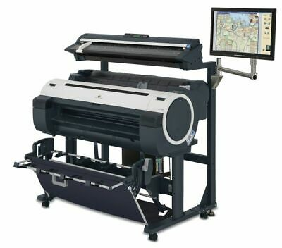 Demo Inkjet Canon Imageprograf Ipf760 36 Color Wide Format Plotter M40 Scanner