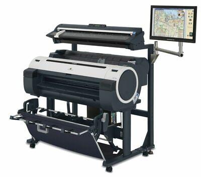 Demo Inkjet Canon Imageprograf Ipf760 36 Color Wide Format Plotter M40 Scanner