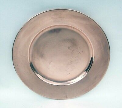 Heavy Vintage Plain Copper Arts and Crafts Charger Plate... 11