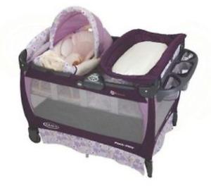 Baby crib, car seat, stroller, bath chair and eating chair