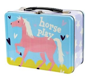 NEW HORSE PLAY TIN LUNCH PAIL HATLEY