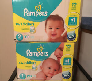 Diapers Pampers Swaddlers. New.