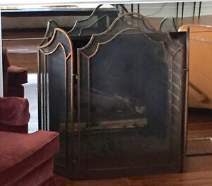 Gas Fireplace & Screen