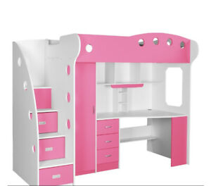 Kids Bunk Bed/Desk Combo