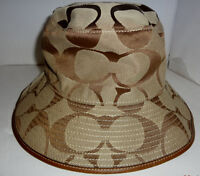 *BRAND NEW AUTHENTIC COACH CRUSHER/ BUCKET HAT W/ LEATHER TRIM..