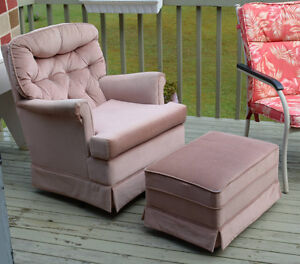 Swivel Chair and Ottoman/footstool