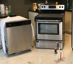 STAINLESS STEEL STOVE AND DISHWASHER FOR SALE (USED) $400.00