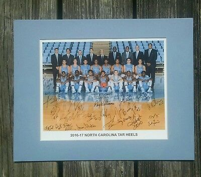 Unc Tar Heels 2016 17  Ncaa Basketball National Champions Matted Team Photograph