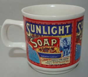 Vintage Sunlight Soap Mug  70's Advertising Mug Lever Bros