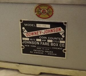 Vintage Coin Counter by Johnson Fare Box Company Belleville Belleville Area image 6