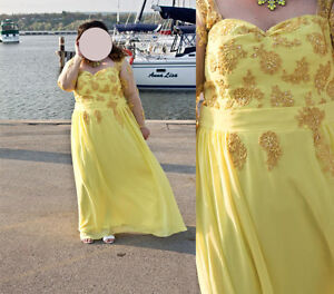 plus size Long Prom Dress/ Long Evening Gown