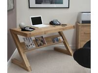 Z Solid Oak Designer Desk - Brand New Boxed
