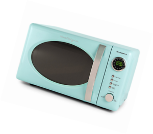 Nostalgia Rmo4aq Retro 0 7 Cubic Foot Microwave Oven Aqua Blue