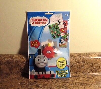 Thomas And Friends On The Go Coloring Pouch Color Wheel Stickers New