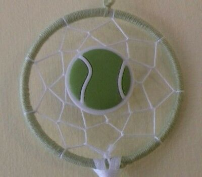 Dream catcher with tennis pendant, tennis gift, dad/son gift