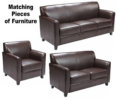 Brown Leather Match Chair (MATCHING Brown Leather Furniture Sofa Loveseat Chair Sofas Chairs Office)