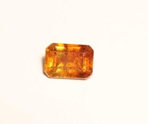 1.05ct Sphalerite - Custom Cut Clean Vibrant Emerald Cut Gem - Spain