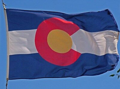 Colorado State Flag 3x5 ft with brass grommets new