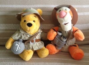 Disney Parks Animal Kingdom Safari Pooh & Tigger Plushes